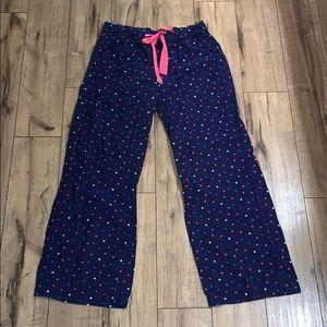 Polka dot pajama pants
